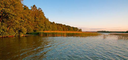Weekend na Mazurach - widok na jezioro