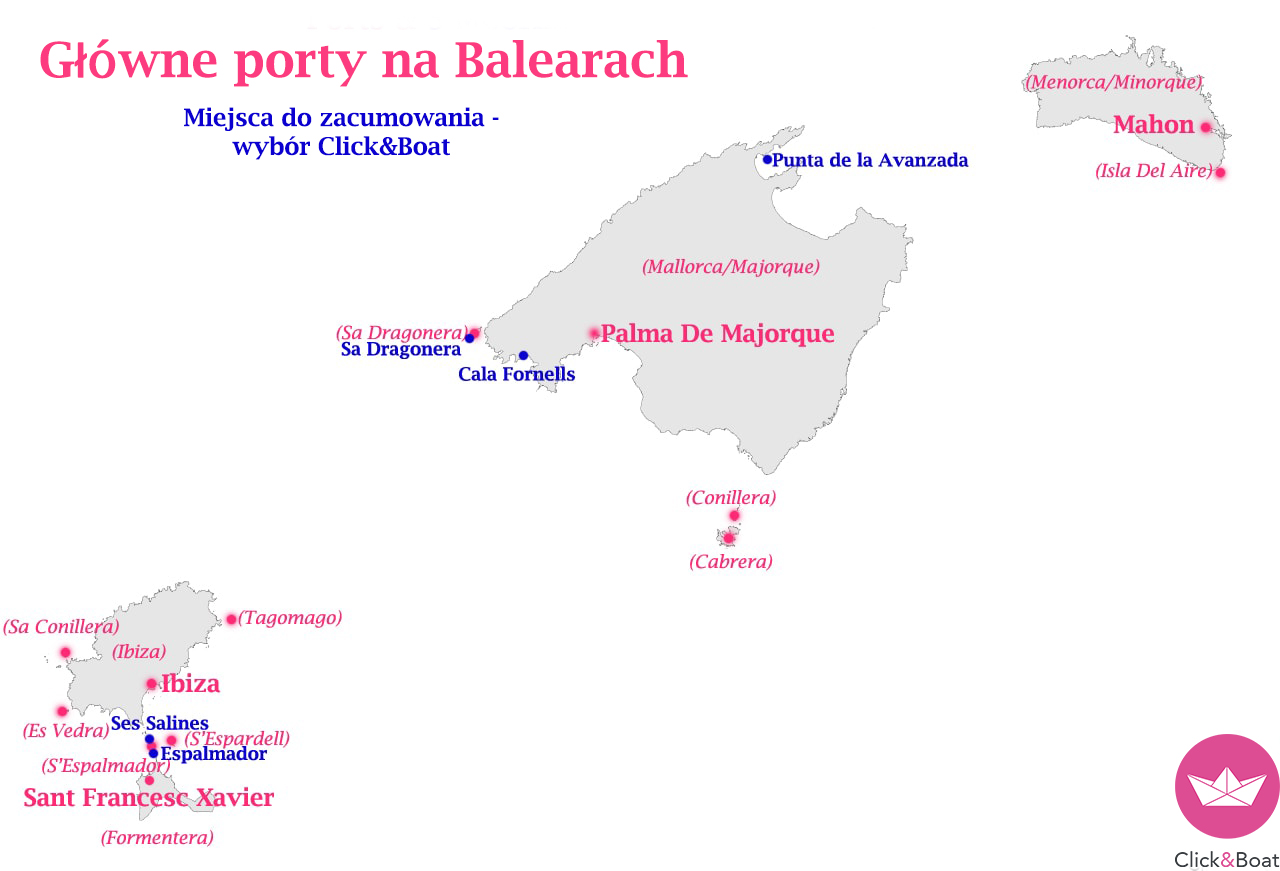 Mapa Baleary
