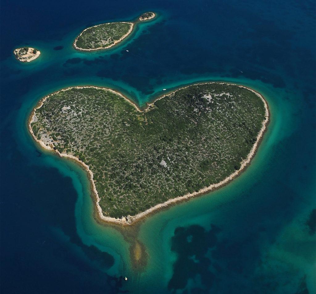 Galešnjak wyspa serce