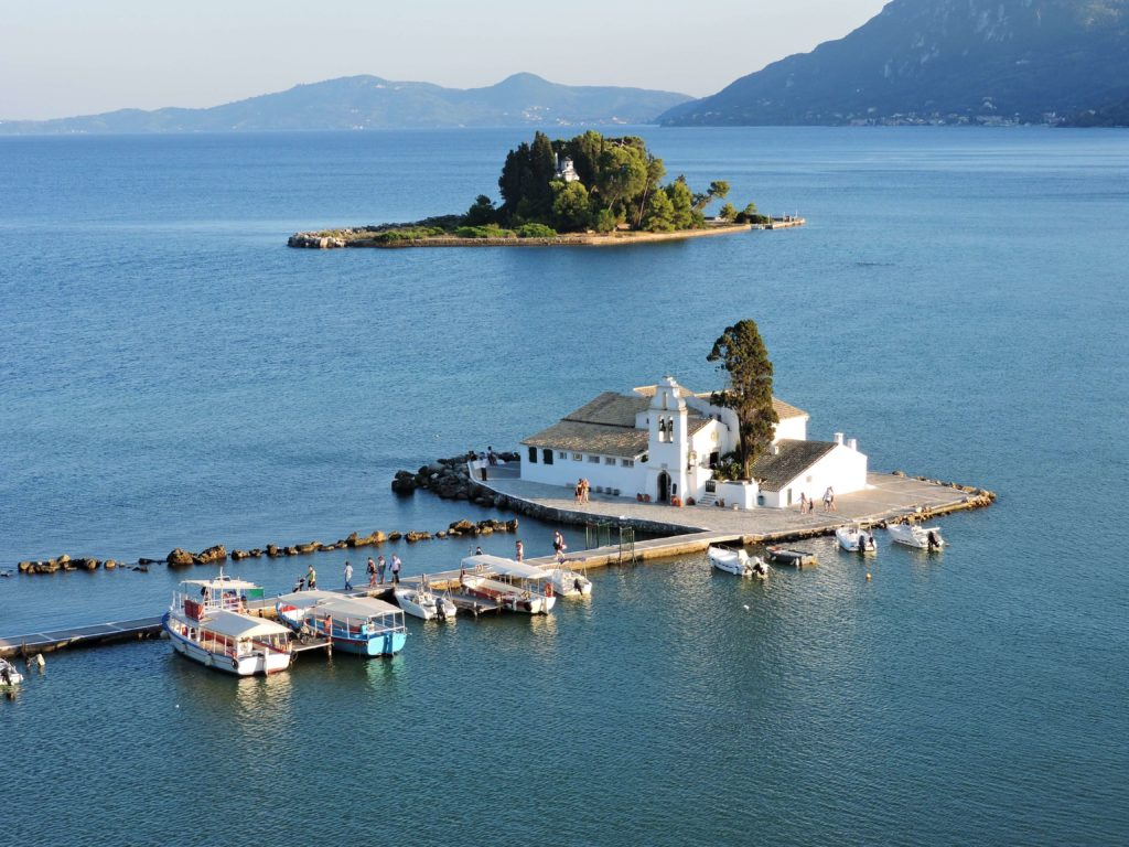 Wyspa Pontikonisi Korfu