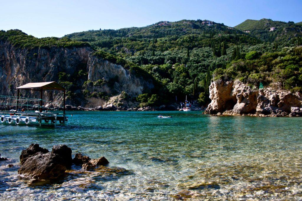 Zatoka Sidari na wyspie Korfu