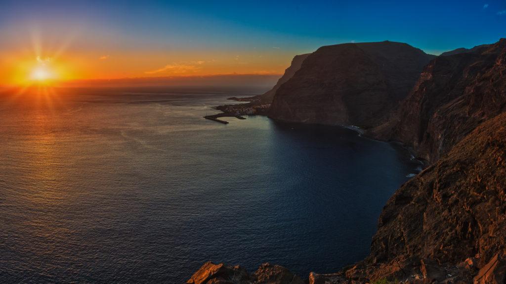 Zachód słońca na wyspie La Gomera