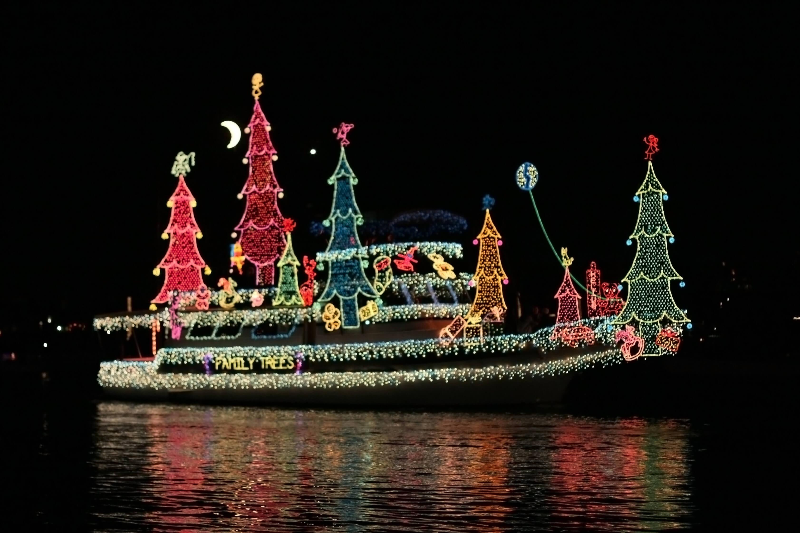 Łódź świąteczne światełka