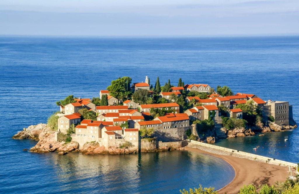 Wyspa świętego Stefana Czarnogóra wakacje