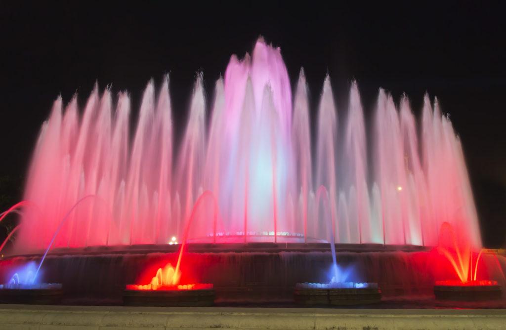 Pokaz fontann Barcelona