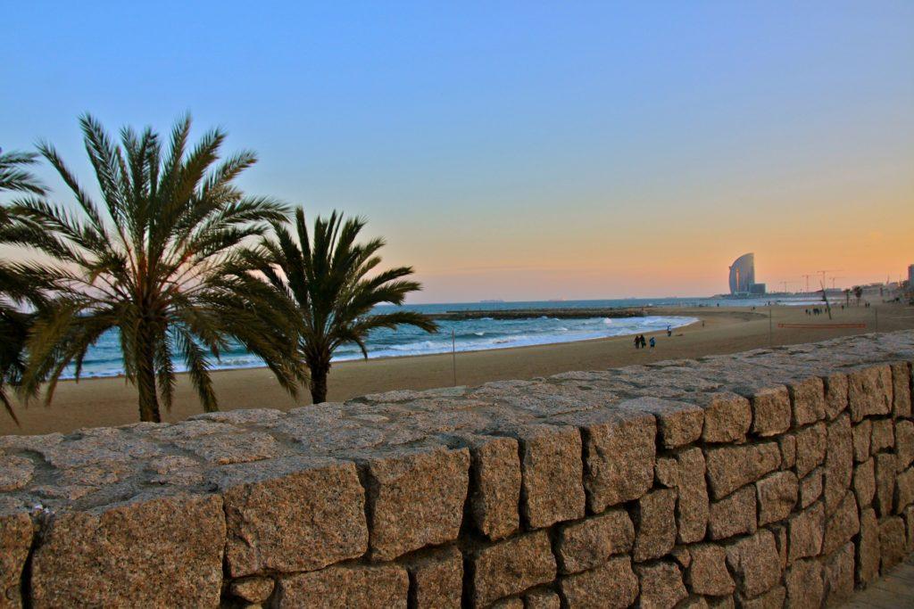 Barcelona zwiedzanie plaża