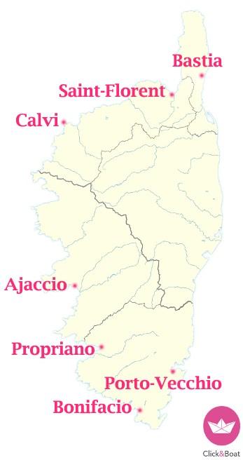 Korsyka - porty - czarter jachtu