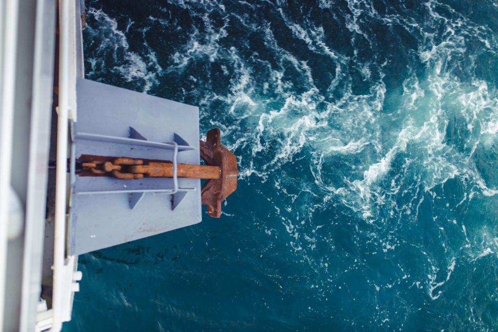 Kotwica jacht żaglowy