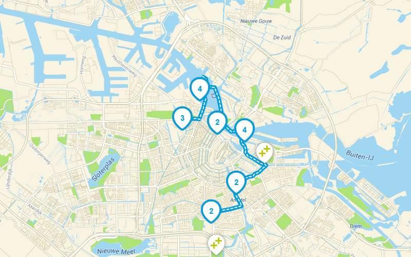 Zwiedzanie Amsterdamu łodzią - trasa kulinarna