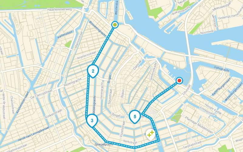 Trasa nawigacyjna Tęczowy Amsterdam