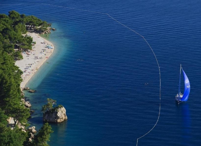 Plaże w Chorwacji Brela