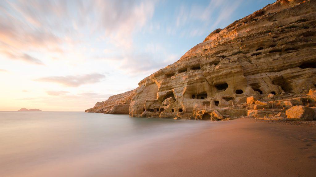 Plaże na Krecie Matala