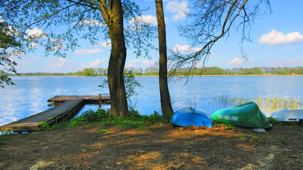 mazury jezioro pomost