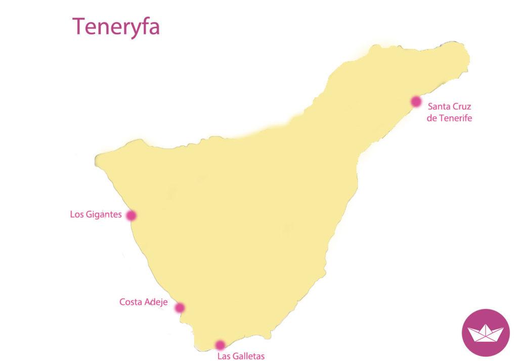 mapa teneryfy