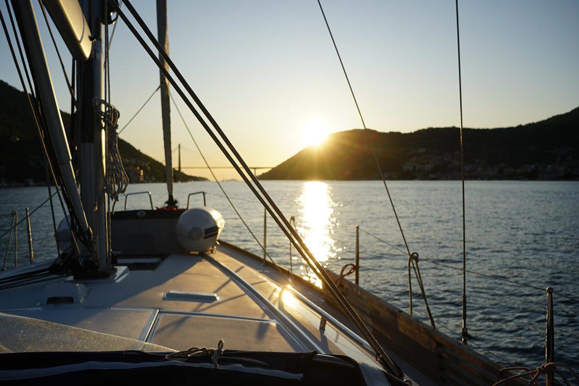 chorwacja jacht słońce