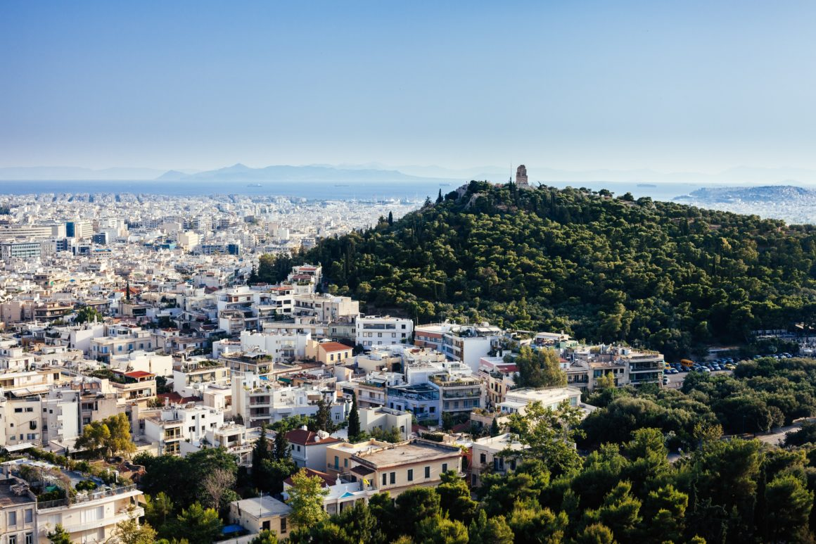 wzgórze akropol ateny panorama miasta