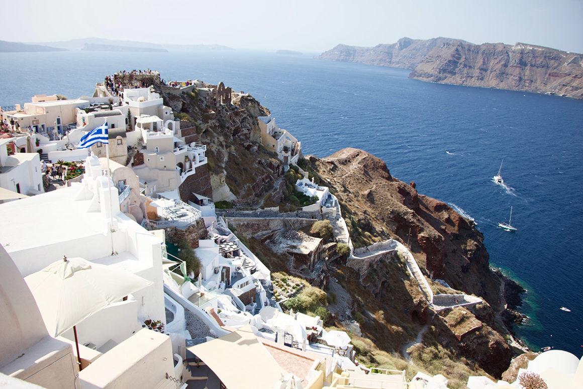 grecja miasteczko widok na morze