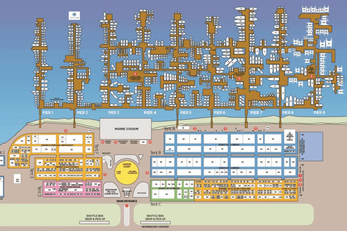 mapa targów w miami