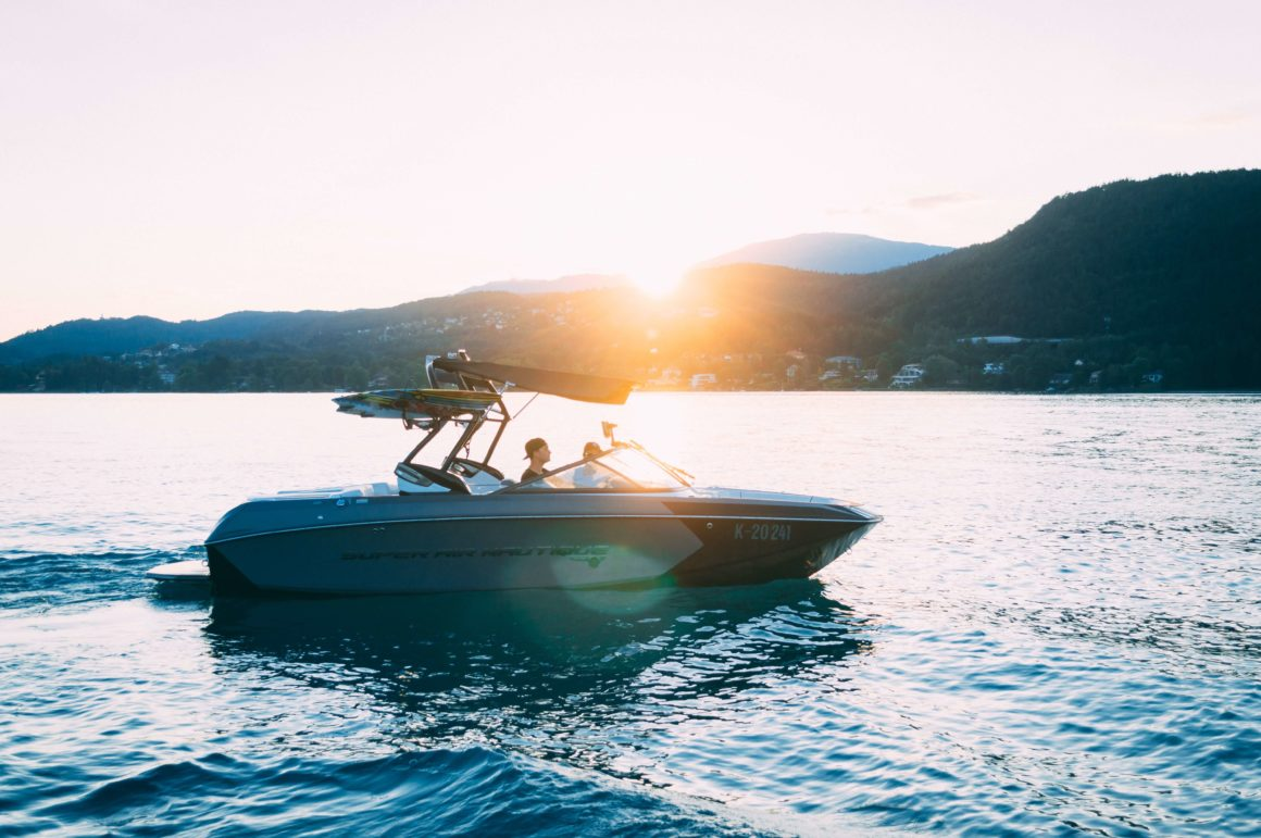 słońce łódź motorowa