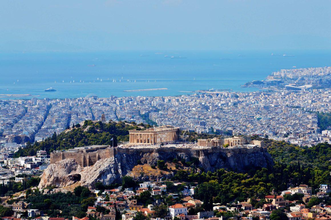 ateny panorama miasta