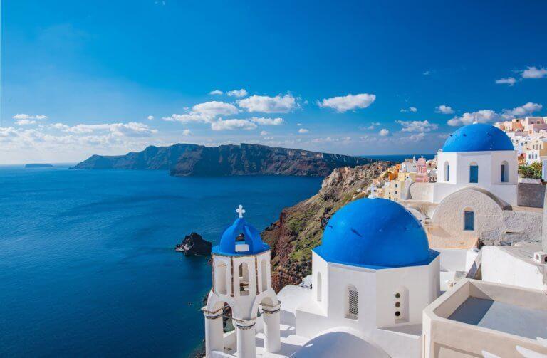 grecja santorini domy
