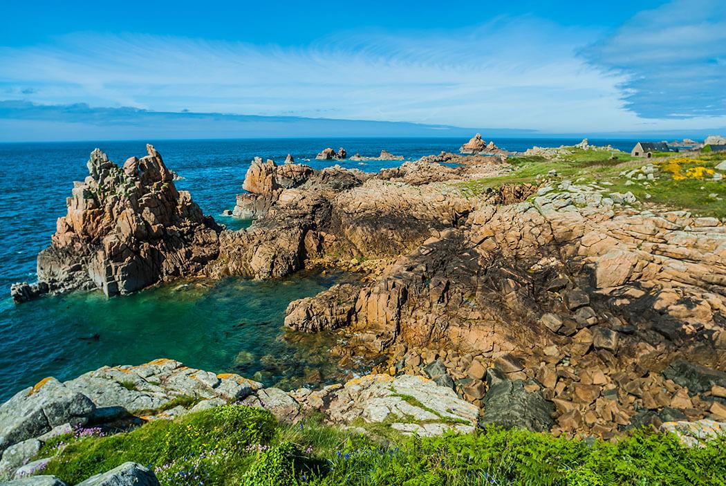 Francuskie wybrzeże wyspa Bréhat