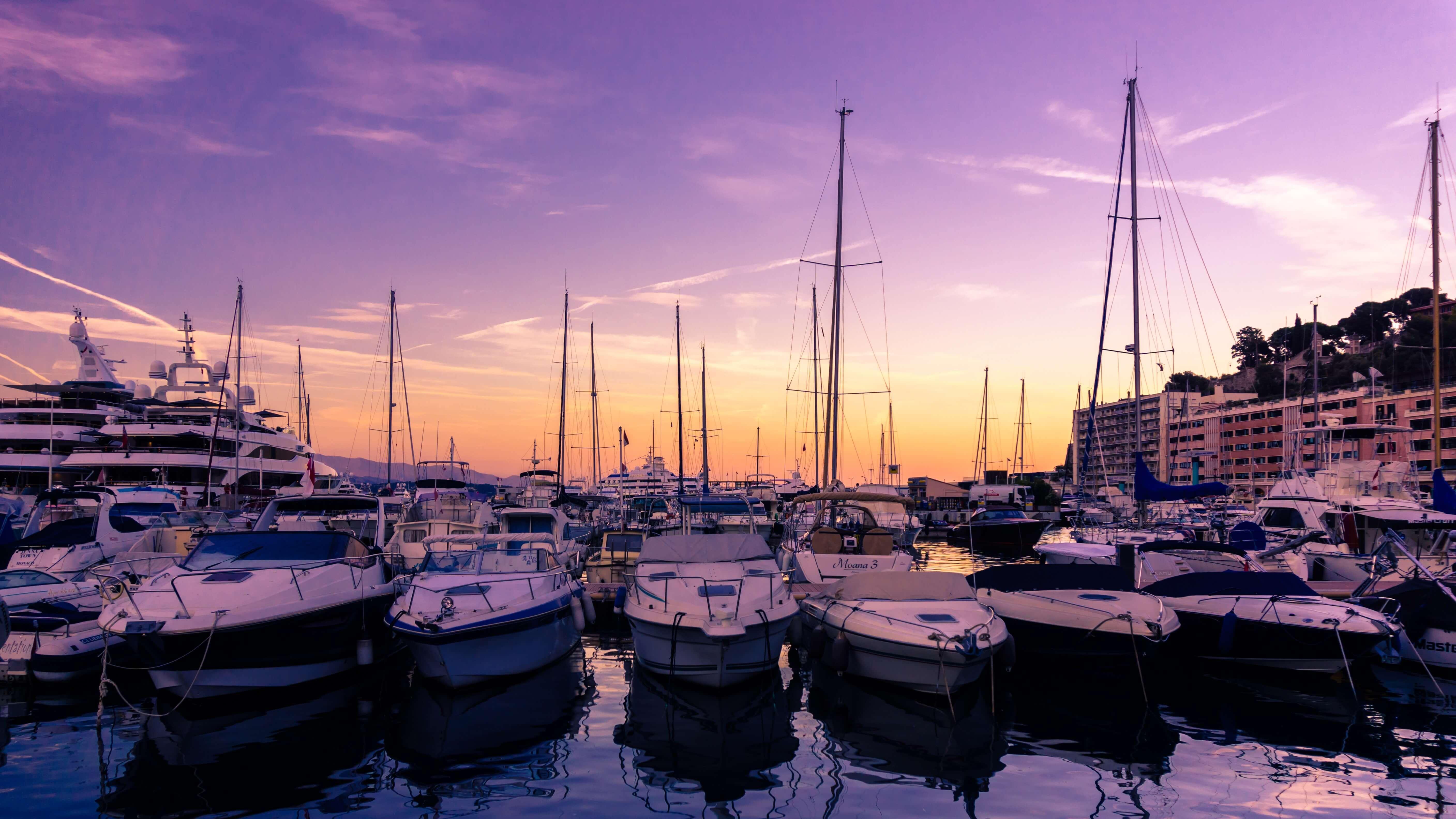 в порту Монако
