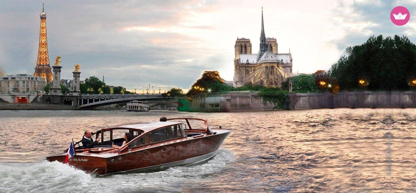 прогулка на катере в париже