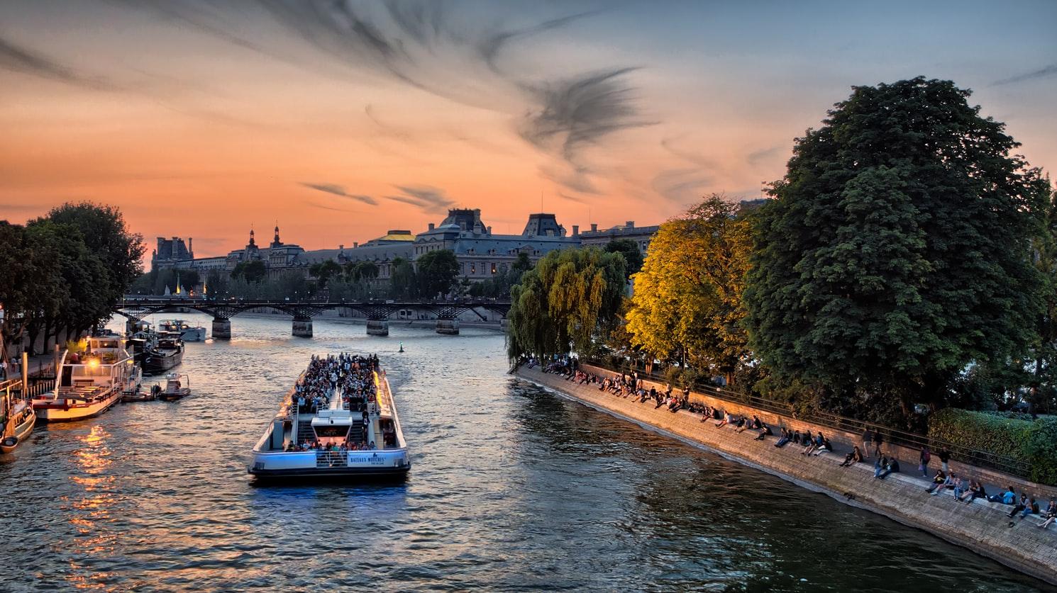 аренда лодки в париже