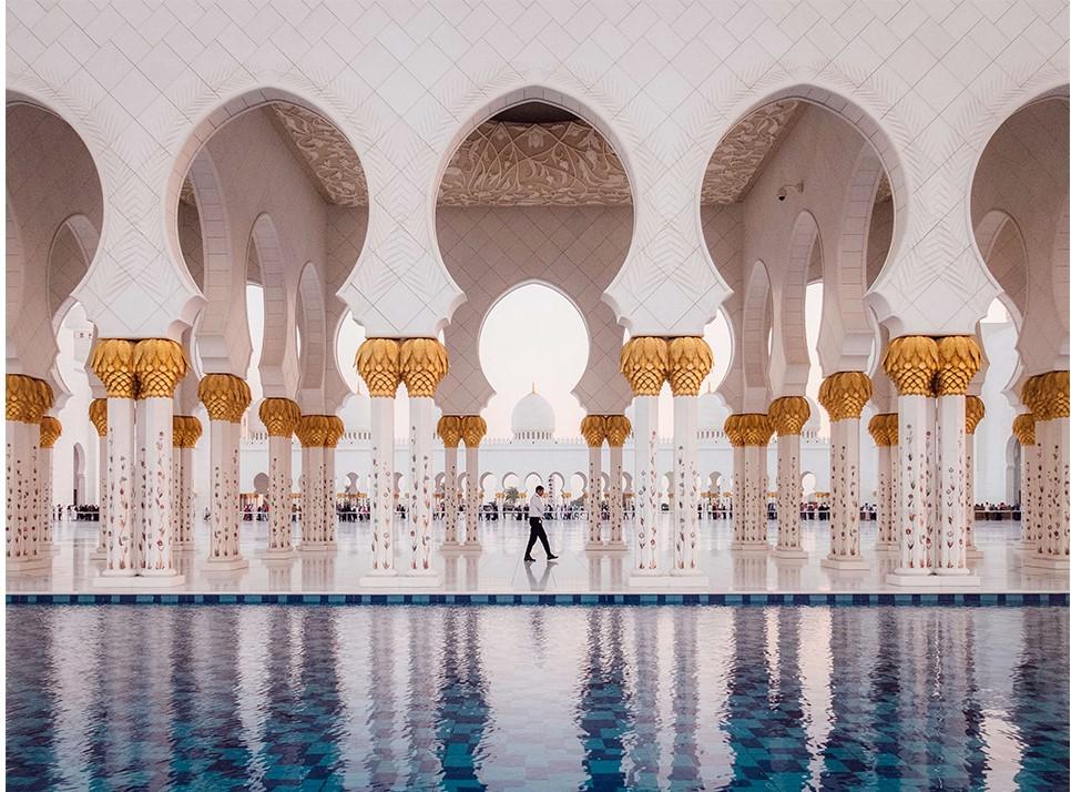 отражение мечети