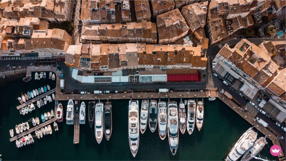 Лазурный берег и яхты