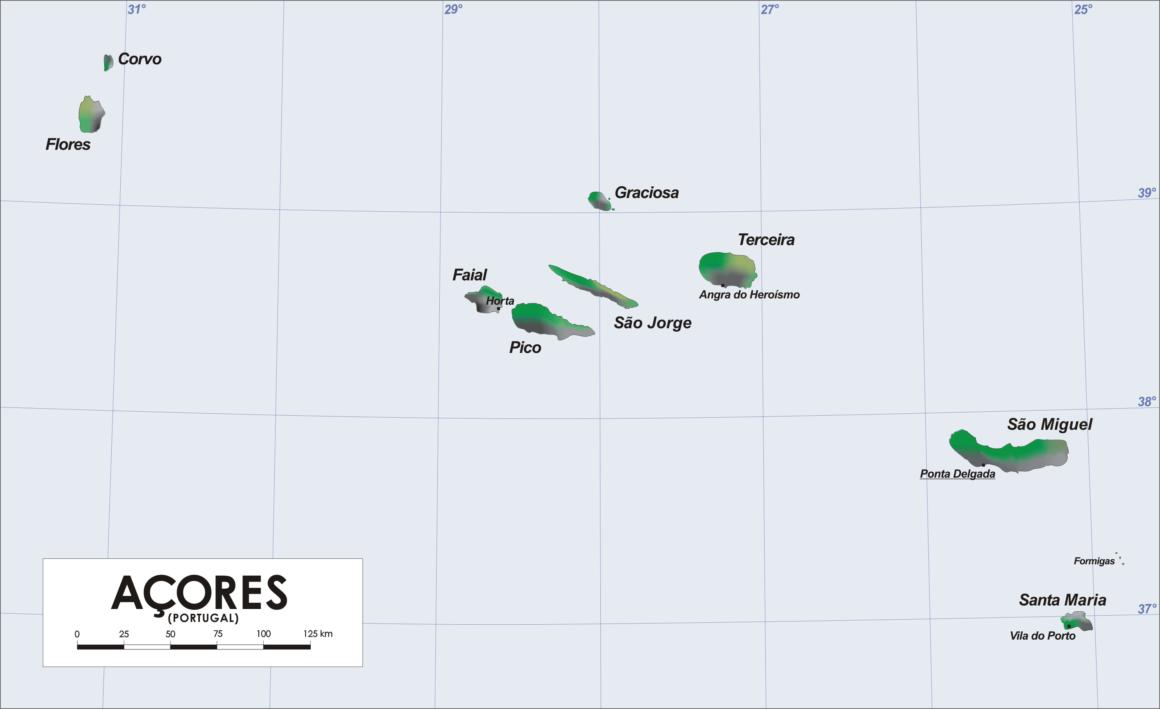 karta resa till azorerna