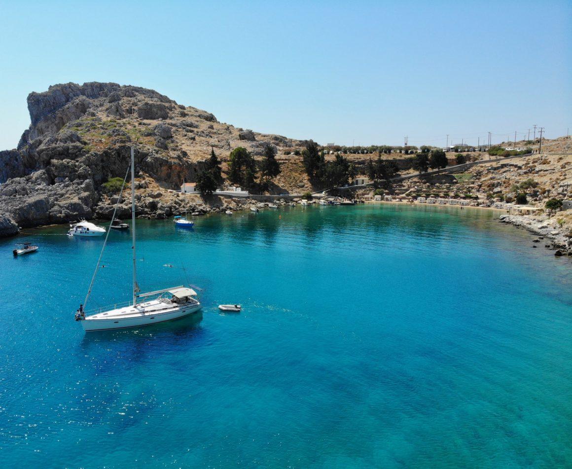 resmål bland öar i grekland