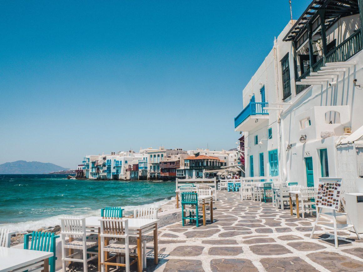 Mykonos öar i grekland