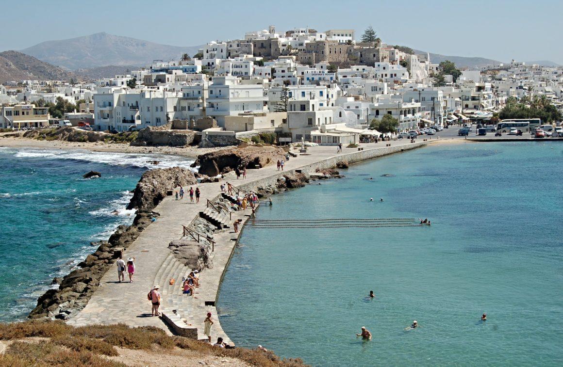 naxos hamn öar i grekland