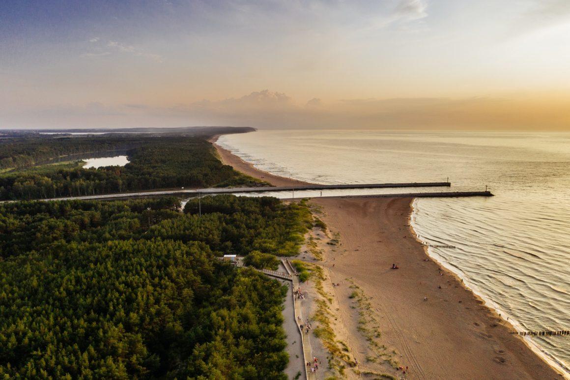 strand på polska rivieran