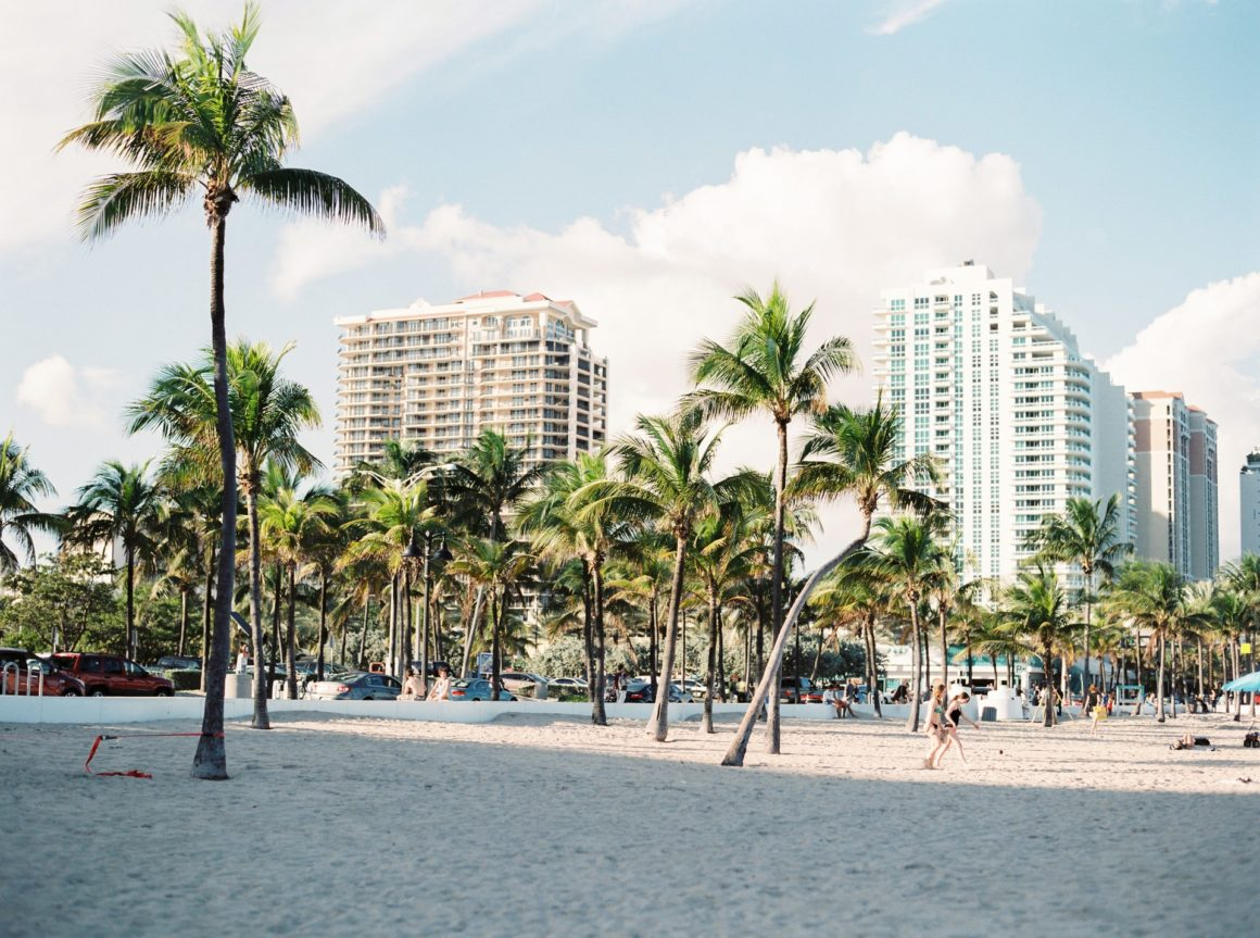 View of a beach in Miami