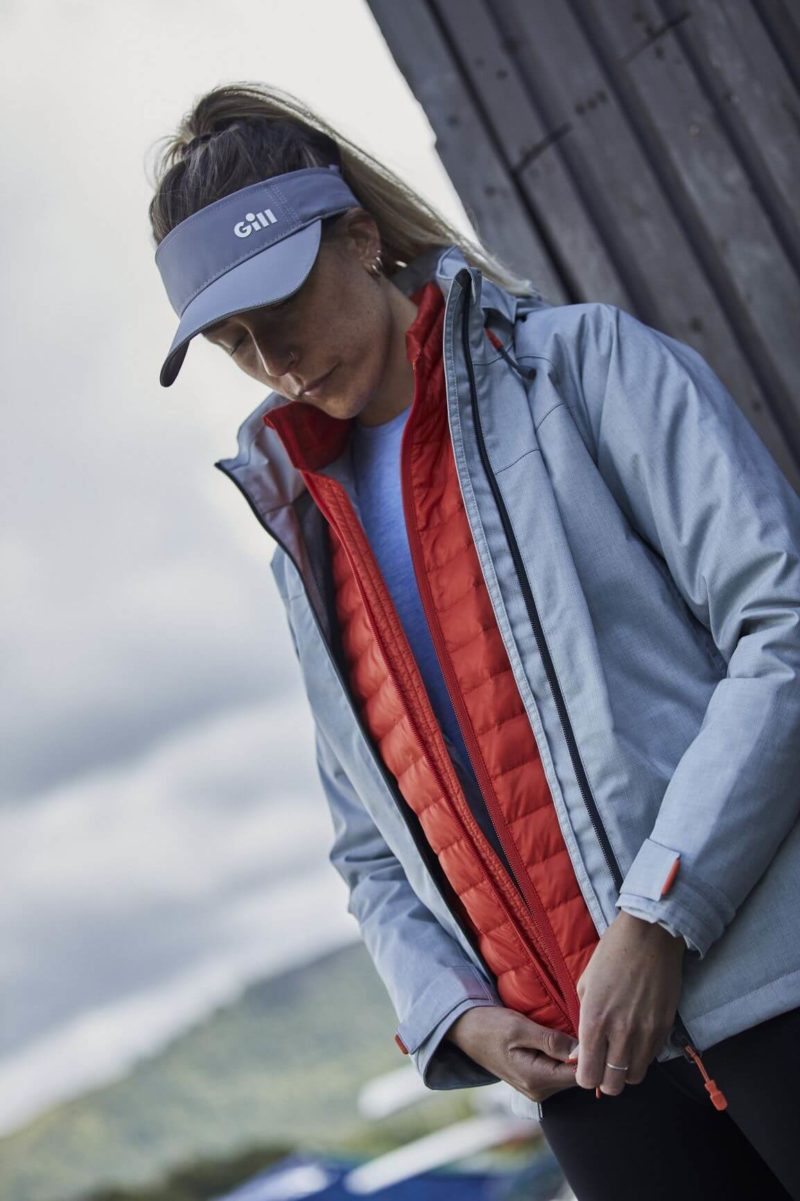 Female Wearing Layered Clothing by Gill Marine
