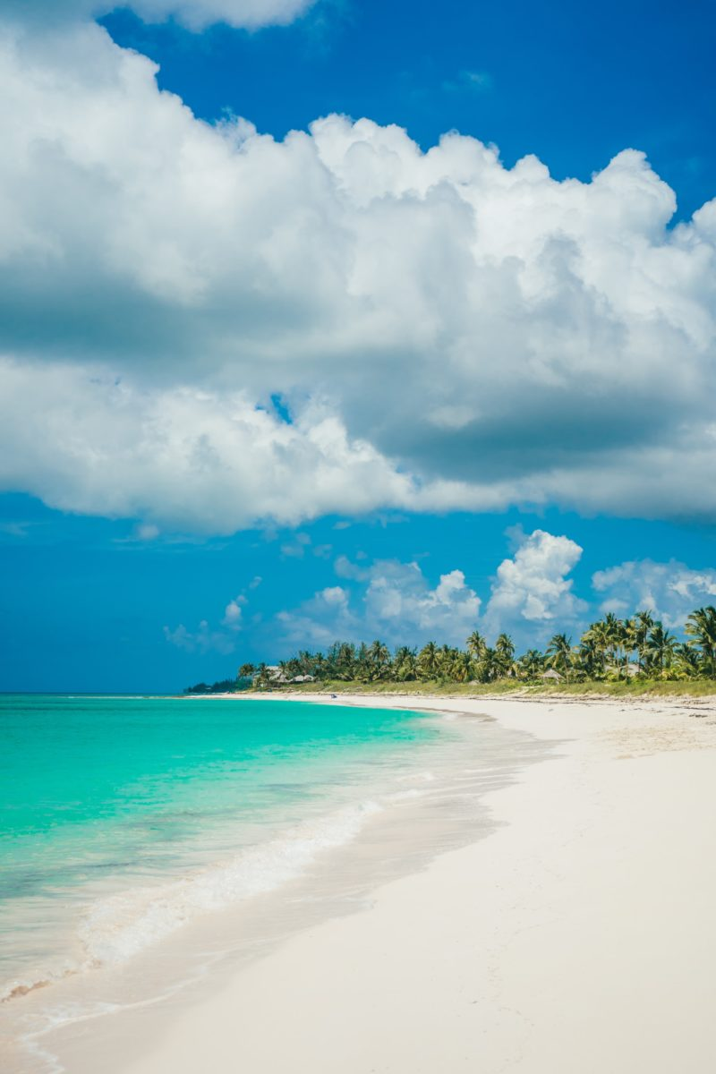 View of a beach in The Bahamas