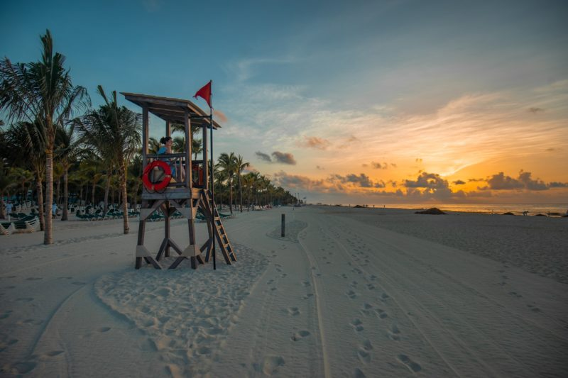 Lifeguard Stand at Playa del Carmen