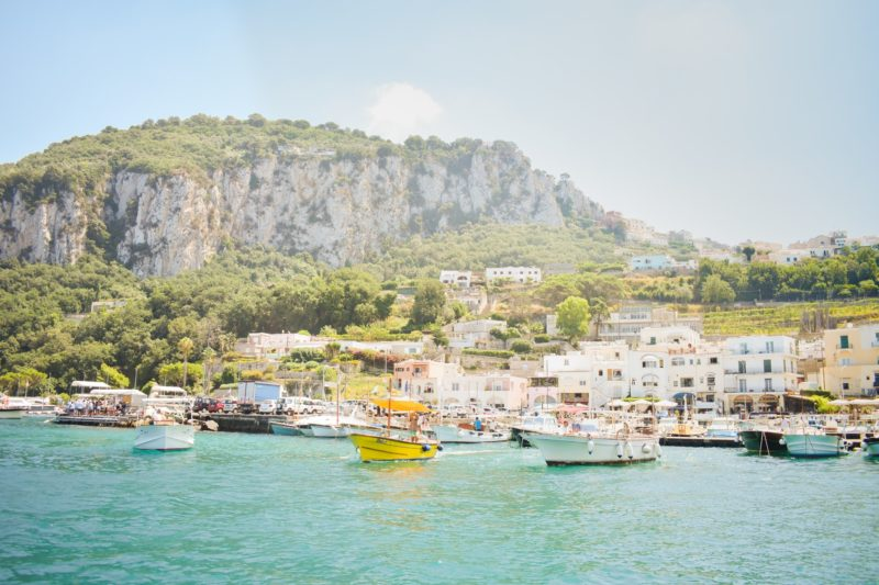 Boats in a marina in Capri