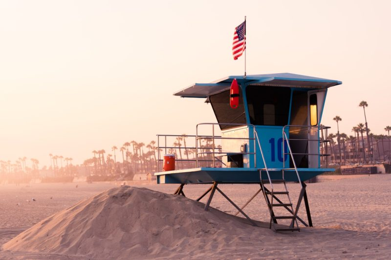 Lifeguard Stand in Long Beach