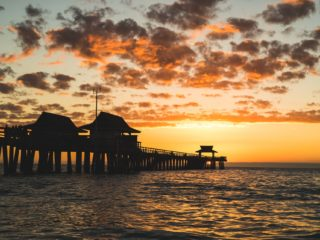 Sunset View of Pier in Naples