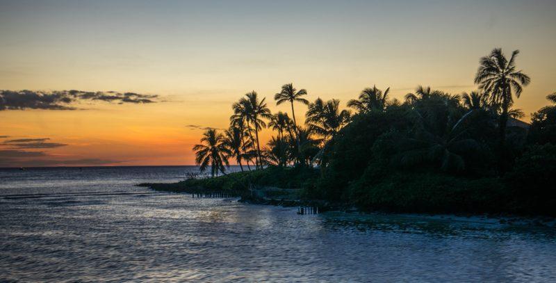 Sunset off the coast of Naples Florida