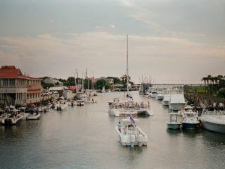 Boats navigating in Charleston