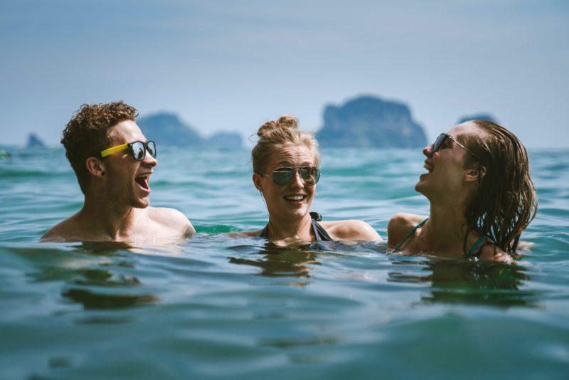 3 Friends enjoying the water