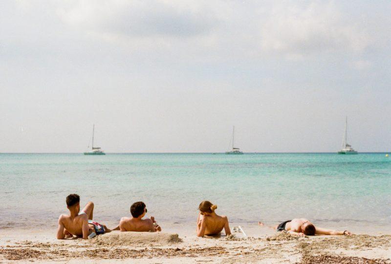Friends enjoying time on the beach
