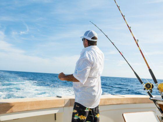 Man On Board Fishing