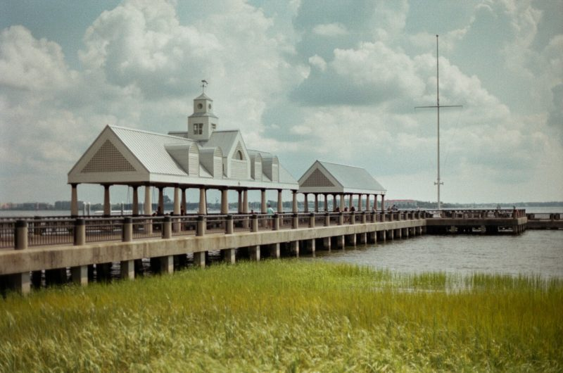 View of a pier in Charleston Harbor