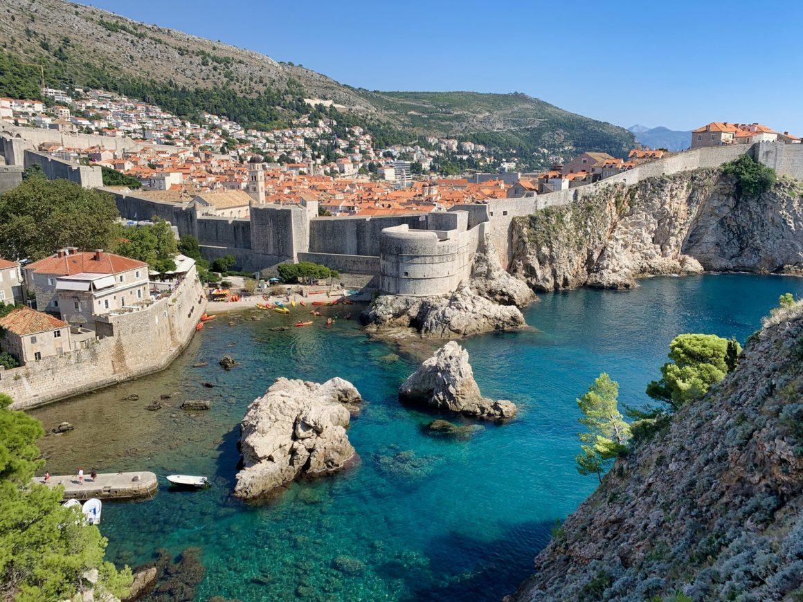 View of Dubrovnik, Croatia from afar